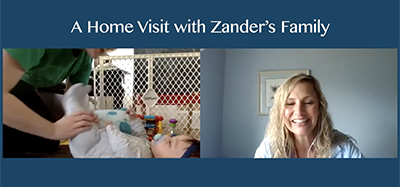 screenshot of video A Home Visit with Zander's Family