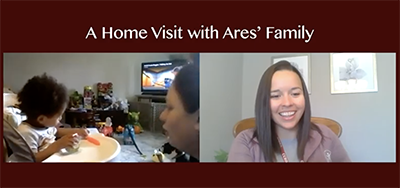 screenshot of video A Home Visit with Ares' Family