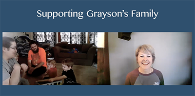 screenshot of video Supporting Grayson's Family